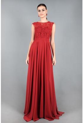 Spazio Almira Uzun Abiye Elbise