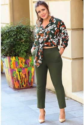 Trend Plus Büyük Beden Klasik Kumaş Pantolon