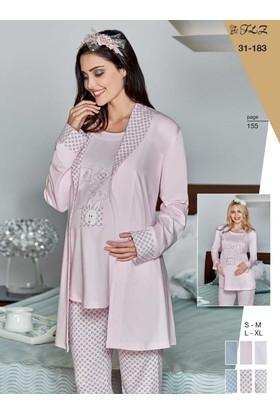 Flz 31-183 Kışlık Lohusa 3'Lü Pijama Takımı