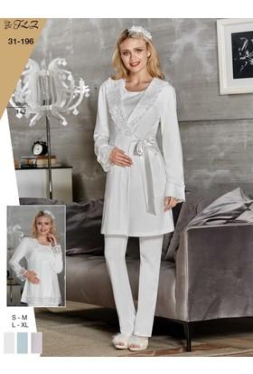 Flz 31-196 Kışlık Lohusa 3'Lü Pijama Takımı