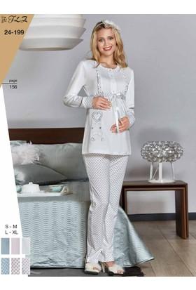 Flz 24-199 Kışlık Lohusa Pijama Takımı