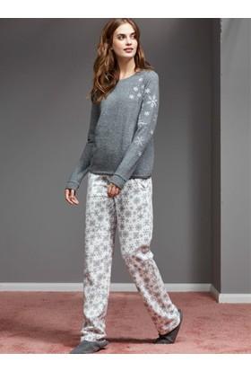 Catherine'S 1128 Kışlık Bayan Pijama Takımı