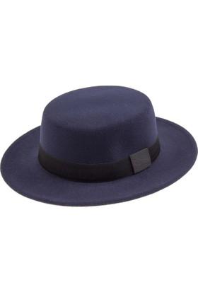 Bay Şapkacı Bayan Borsolino Kaşe Fötr