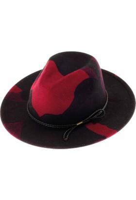 Bay Şapkacı Bayan Desenli Fötr