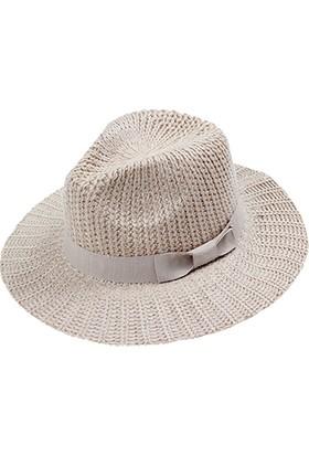 Bay Şapkacı Bayan Örme Geniş Kenar Şapka