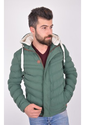 Burucline Erkek Şişme Mont Yeşil 17-2E668004