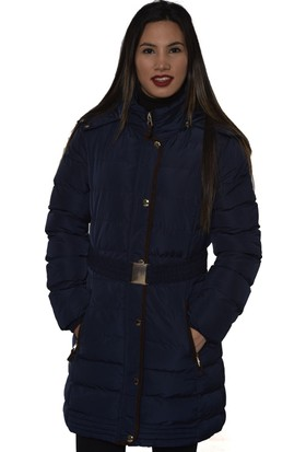 Westside Uw9103 Kapüşonlu Ve İçi Peluşlu Kadın Uzun Mikro Mont