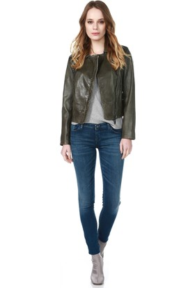 Armani Jeans Kadın Ceket Yeşil 6X5B54 5LBBZ