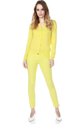 Armani Jeans Kadın Pantolon Sarı A5J06 HJ
