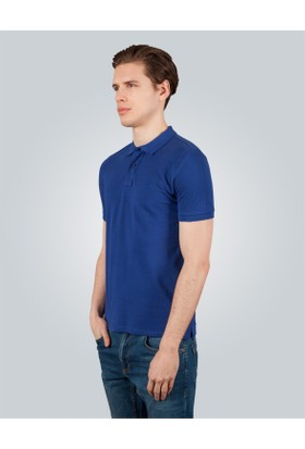 Tudors Polo Yaka Düz Lacivert Pike Erkek T-Shirt