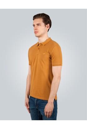 Tudors Polo Yaka Düz Hardal Pike Erkek T-Shirt