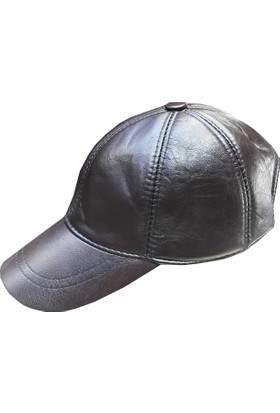 Sanal Bolluk Bordo Spor Deri Şapka
