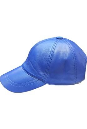 Sanal Bolluk Mavi Spor Deri Şapka Beyzbol Unisex