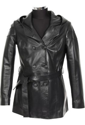 Gön Deri Kadın Ceket Siyah D3551