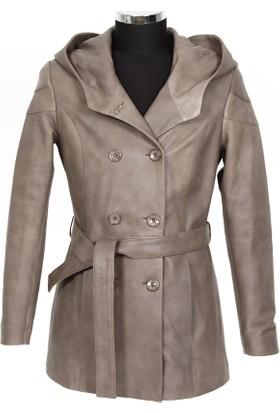 Gön Deri Kadın Ceket Vizon D3551
