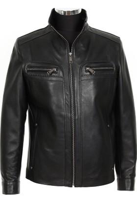 Gön Deri Erkek Ceket Siyah D4556