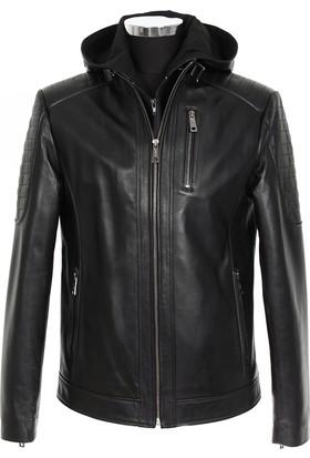Gön Deri Erkek Ceket Siyah D4558
