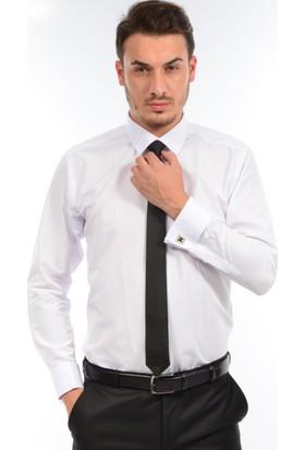 Albertino Erkek Slim Fit Manşet Kol Gömlek