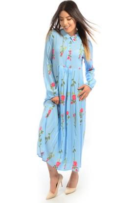 Helly Kadın Çiçek Desenli Elbise He-3704