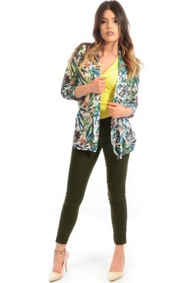 Helly Kadın Desenli Ceket Hc-4225