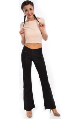 Starlife Kadın Bol Paça Kanvas Pantolon 1445