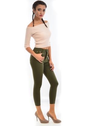 Starlife Kadın Dar Paça Kanvas Pantolon 1445