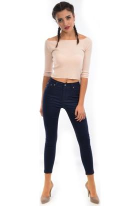 Starlife Kadın Dar Paça Keten Pantolon 1445