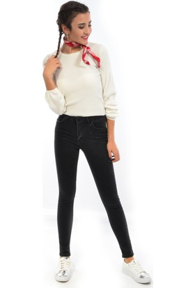 Starlife Kadın Dar Paça Taşlı Kot Pantolon 1452