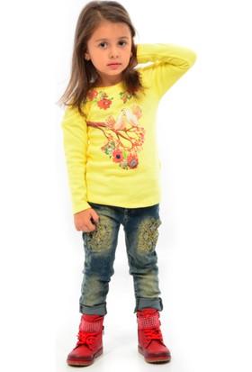 Pier Chuvin Kız Çocuk Kot Pantolon