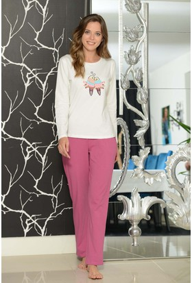 Shirly Bayan Pijama Takımı Kuş Nakışlı