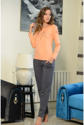 Shirly Bayan Pijama Takımı Nakışlı