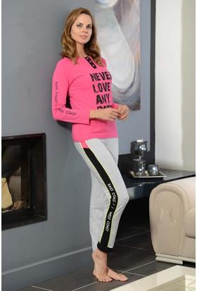 Shirly Bayan Spor Pijama Takımı Baskılı