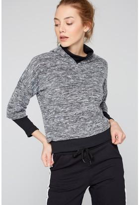 FullaModa 18KTURKUVAZ0030 Kadın Kapüşonlu Sweatshirt