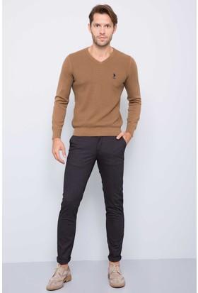 U.S. Polo Assn. Erkek Benjamin7S Pantolon Kahverengi