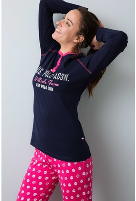 U.S. Polo Assn. Kadın 15934P Pijama Lacivert