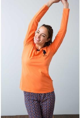 U.S. Polo Assn. Kadın 15937P Pijama Turuncu