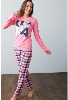 U.S. Polo Assn. Kadın 15943 Pijama Pembe