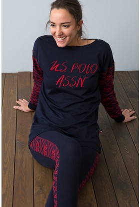 U.S. Polo Assn. Kadın 15948P Pijama Lacivert