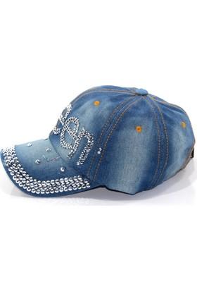 Pyz Moda Süper Tasarım Bayan Taşlı Kot Şapka