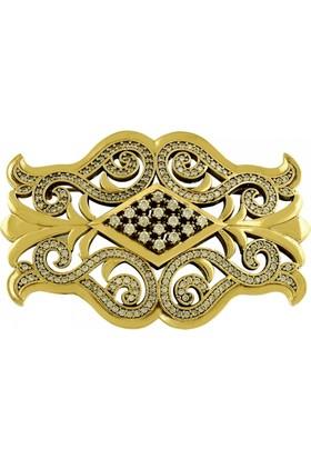 Tevuli 925 Ayar Gümüş Otantik Broş Br13993