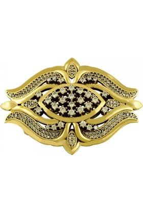 Tevuli 925 Ayar Gümüş Otantik Lale Desenli Broş Br13990