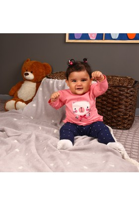 Hello Baby Aplikeli Uzun Kollu T-Shirt