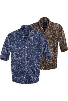Adirondack Çiçek Baskı Tasarım Soft Pamuk Spor Gömlek