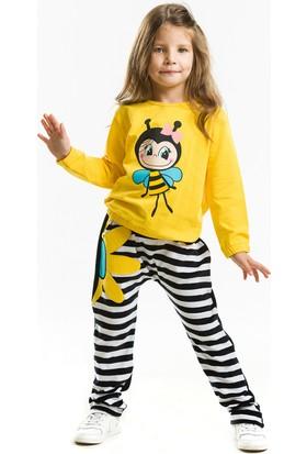 Denokids Bee Happy Kadife Baggy Takım