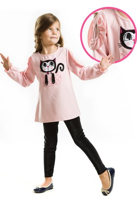 Denokids Kedi Pixie Tunik Takım