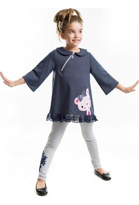 Mushi Ayıcık Dantelli Tunik Takım