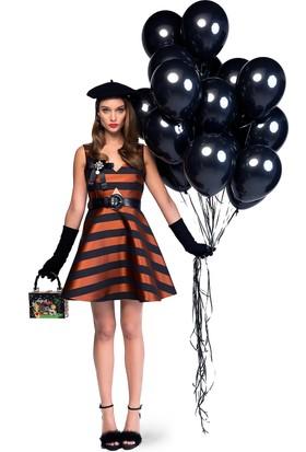 Bsl Fashion Brn Marla Elbise 9403