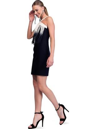 Sense 14778 Çapraz Askılı Straplez Krep Elbise