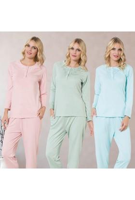 Meyra 710 Uzun Kollu Kadın Pijama Takımı