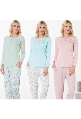 Meyra 713 Uzun Kollu Kadın Pijama Takımı